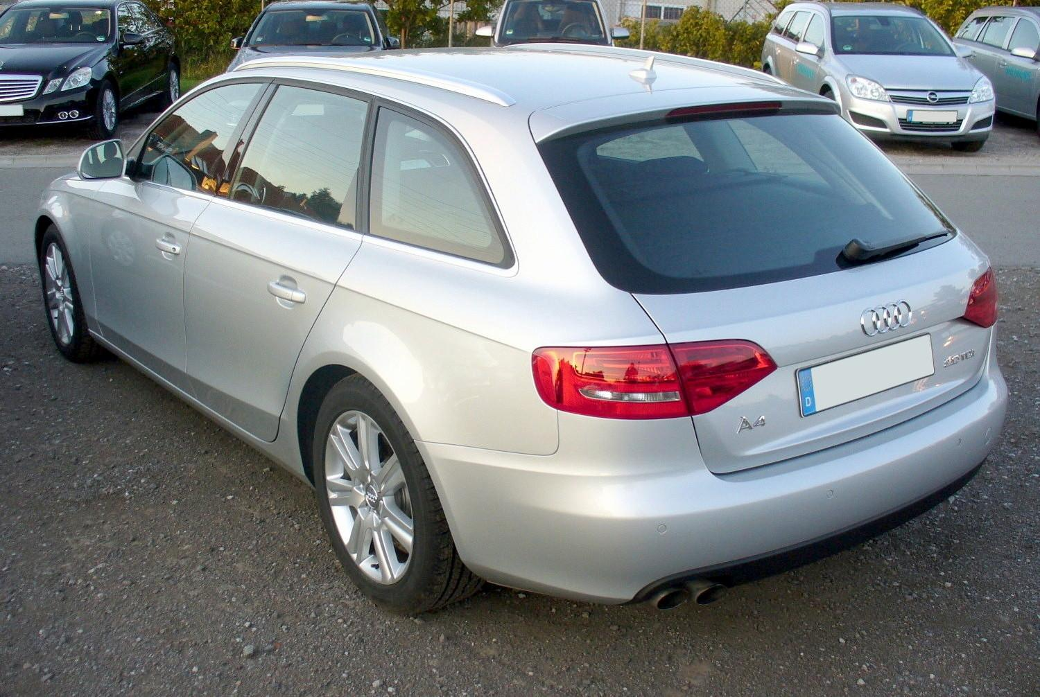 audi a4 avant 2 0 tdi multitronic photos and comments. Black Bedroom Furniture Sets. Home Design Ideas