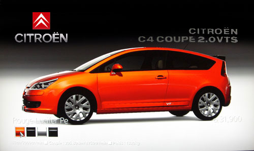 citroen c4 2 0 vts coupe photos and comments. Black Bedroom Furniture Sets. Home Design Ideas
