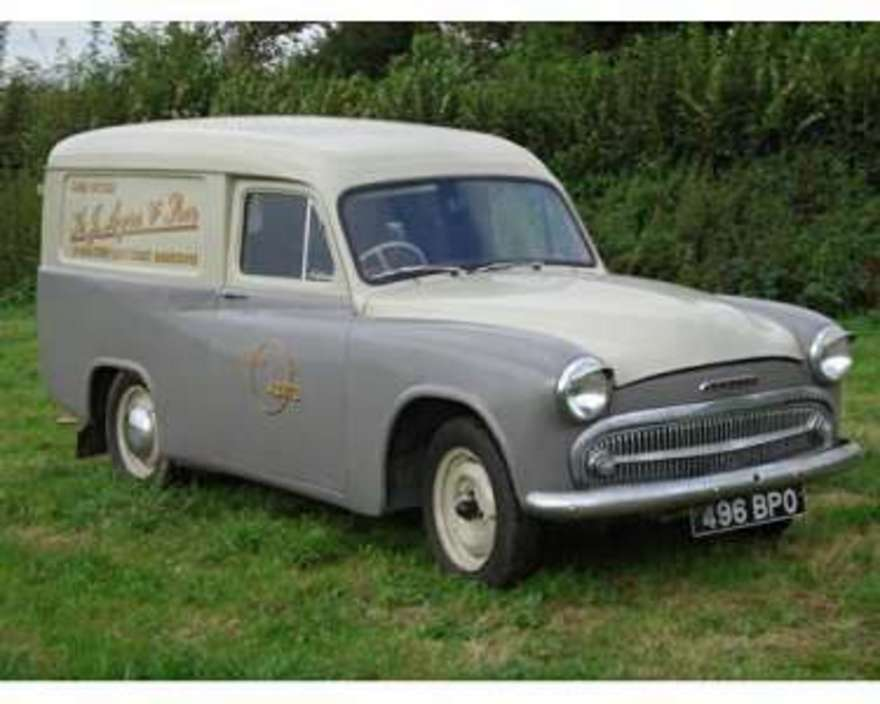 Commer express delivery van front commer express delivery van the