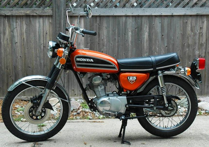 honda cb 125 disc photos and comments. Black Bedroom Furniture Sets. Home Design Ideas