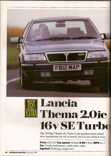 lancia thema 2.0 ie turbo #8
