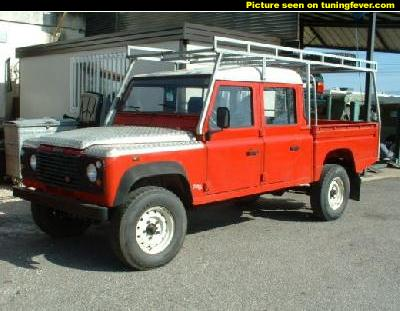 land rover defender 130 crew cab photos and comments www. Black Bedroom Furniture Sets. Home Design Ideas