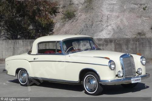 mercedes-benz 220 s coupe #7