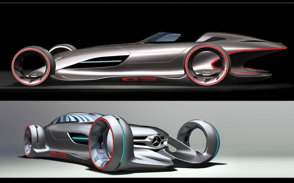 mercedes-benz silver arrow #1