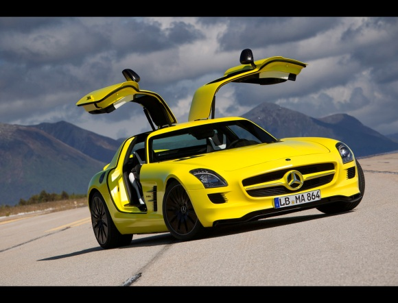 mercedes-benz sls amg e-cell #5
