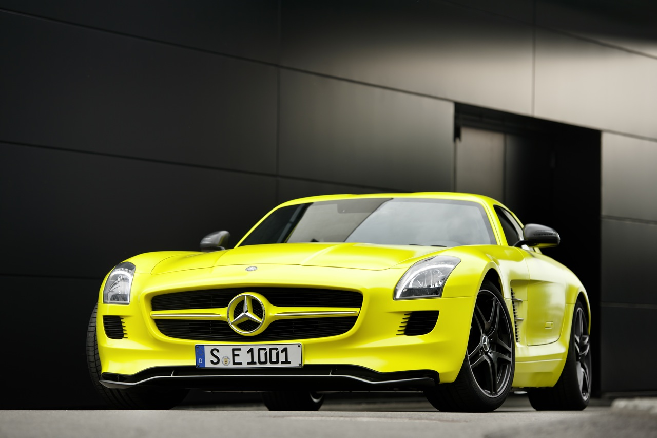 mercedes-benz sls amg e-cell #6