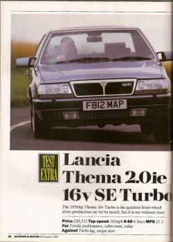 lancia thema 2.0 ie turbo